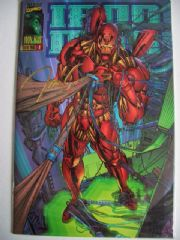 Iron Man #1 Signed Jim Lee 22K Gold Ink Marvel COA Ltd 2500